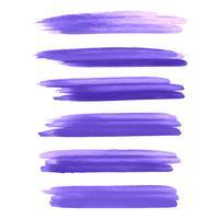 Akvarell färgglada hand rita stroke set design vektor