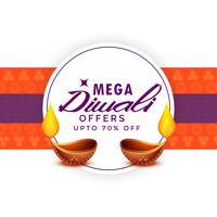 modèle d'affiche de festival mega diwali vente