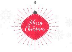 Fondo de bola de bola decorativa elegante feliz Navidad