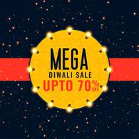fond de festival de vente mega diwali