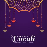 modelo de plano de fundo do festival criativo feliz diwali hindu