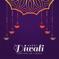 creative happy diwali hindu festival background template