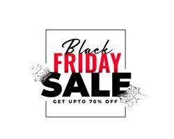 bannière de vente abstraite vendredi noir en style explosion