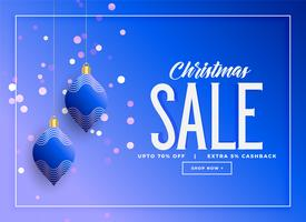 stylish christmas hanging balls sale background