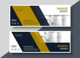 Diseño de banner de presentación de negocios en forma geométrica