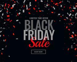 astratto sfondo nero vendita coriandoli di venerdì