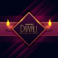 design di cartoline d'auguri per il festival di diwali
