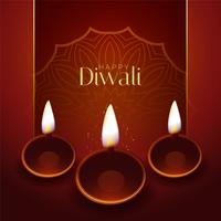 happy diwali traditional festival greeting design