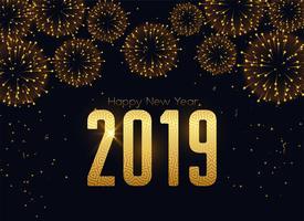 glada nya 2019 års fyrverkerier firar bakgrund