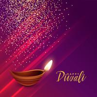 Festival hindú diwali saludo con destellos