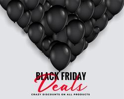 zwarte vrijdag deals achtergrond met ballonnen