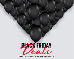 black friday deals background with balloons