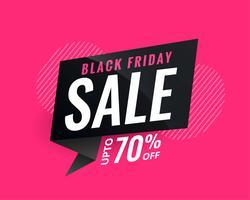 bannière de vente discount pour vendredi noir