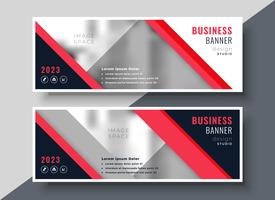 rotes Thema Business Banner oder Präsentationsvorlage Design