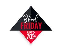 svart fredag försäljning geometrisk bakgrund