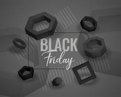 black friday abstract geometric shapes background