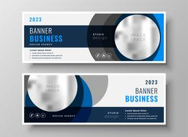 abstract circle business banners modern template