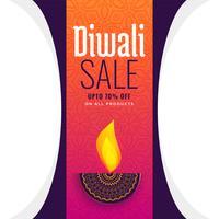 Diseño de cartel de venta diwali diya artística
