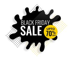 black friday color splash sale template