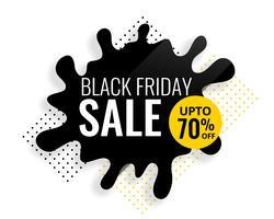 svart fredag färg splash försäljning mall