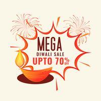conception de modèle de bannière de vente festival diwali