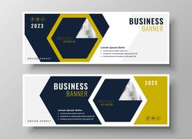 professionelles Business Banner Präsentationsvorlage Design
