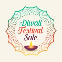 diwali festival sale with mandala style decoration