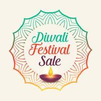 diwali festival sale with mandala style decoration