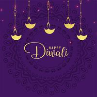 stylish diwali festival greeting design background