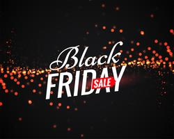 black friday sale poster with light sparkles