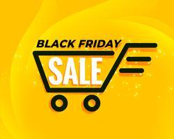 sfondo di vendita carrello nero venerdì