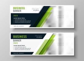 Plantilla de diseño de banner de negocios verde profesional