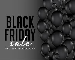 composition moderne de ballons de vendredi noir