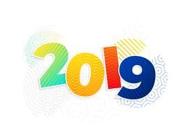 funky memphis style 2019 new year background