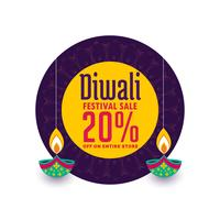 creative sale banner for diwali festival celebration