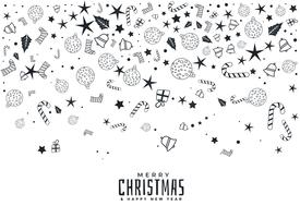 sammansättning av julelement på vit bakgrund