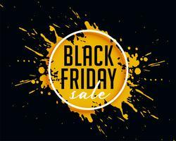vente de vendredi noir abstraite avec fond splash d'encre