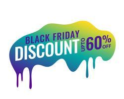 svart fredag försäljning banner med rabatt detaljer