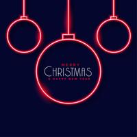 neon christmas balls decoration background