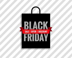 fond noir sac de vente vendredi