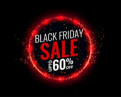black friday sale background with red lights effect