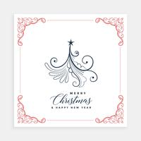 creative christmas tree card design template