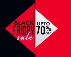 bannière de vente créative style vendredi noir géométrique