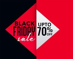 geometric style black friday creative sale banner