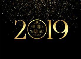 premium gelukkig nieuw jaar 2019 achtergrond