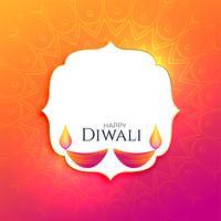 gelukkige diwali festival achtergrond met tekst ruimte