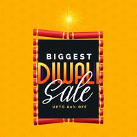 biggest diwali sale poster design with cracker