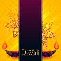kreatives Diwali-Banner-Design mit dekorativen Diya