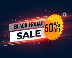 svart fredag försäljning banner mall