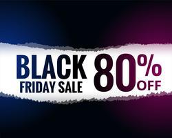 abstrait papier déchiré style noir vendredi vente fond